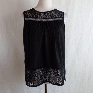 Black Lace open back top size L